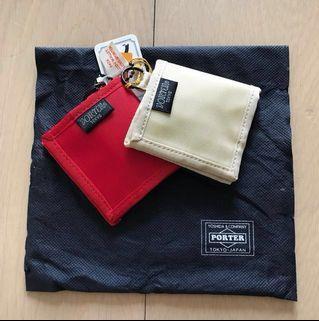 [全新]日本porter 零錢包一對