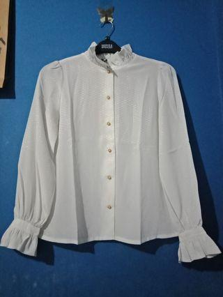 White blouse soft motif