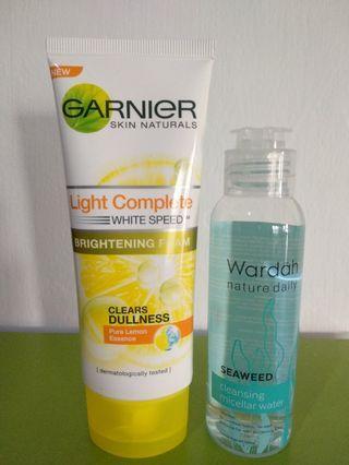 Facial Wash Garnier dan Wardah Micellar