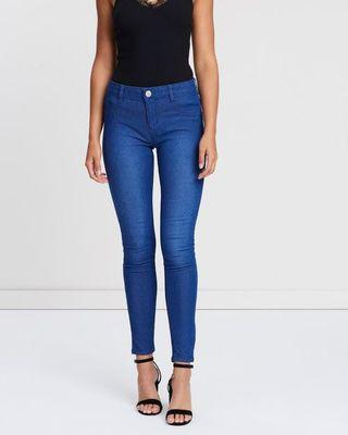 CO Blue Mid Rise Jeggings
