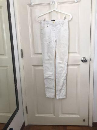 H&M white denim jeans 32