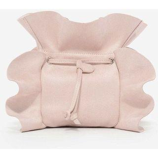 -Charles & Keith - Nude Ruffle Detail Bags
