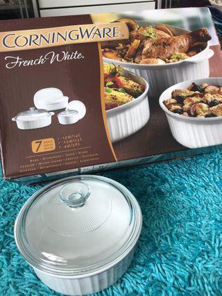 Corningware French White 7 pieces