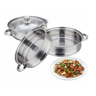 LUXURY SOUP STEAM POT 28-CM HIGH QUALITY STAINLESS STEEL POT