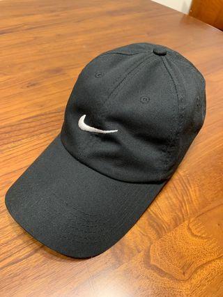 二手 NIKE 老帽 帽子 黑色 可調式