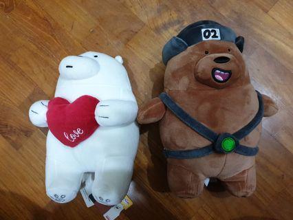 Miniso we bare bears plushies