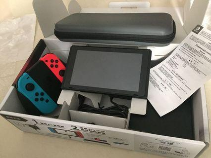 Switch主機買入半年有盒齊配件