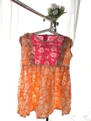 Casual Batik Pink-Orange
