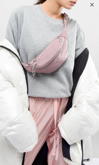 Asos bum bag pink dust