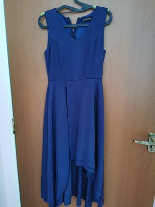 Preloved the closet lover navy romper dress