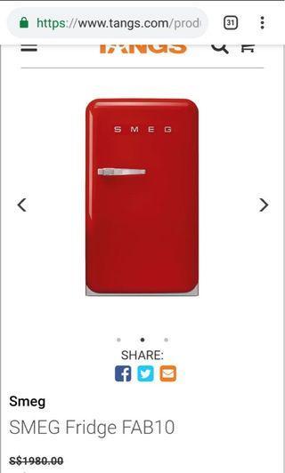 Smeg bar fridge 1m height