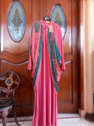 SALE Gamis Pink Outer With Inner