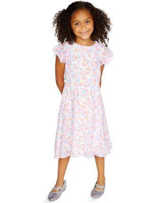 🚚 Oshkosh Floral Chiffon Dress