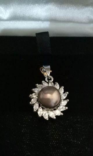 珍珠 鑲鑽墜子