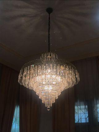 Lampu Gantung Hias Chandelier Crystal Elegant Kristal Lamp