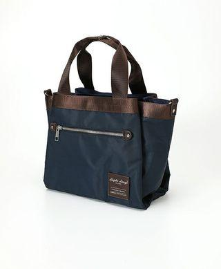 Authentic Legato Largo 2WAY Middle Tote bag - LH-F1351 - Navy