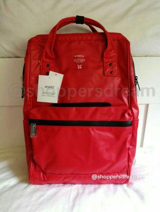 Red Authentic PVC Anello Backpack