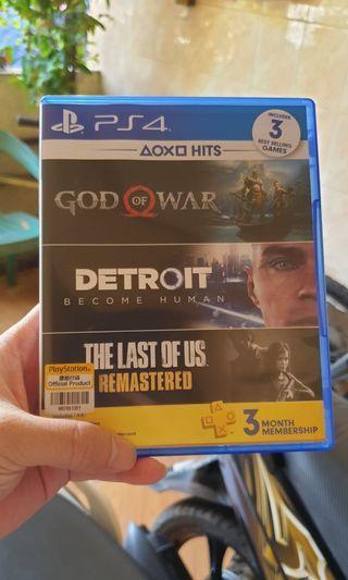Bundling Games PS4 - God of War, Detroit and The Last of Us