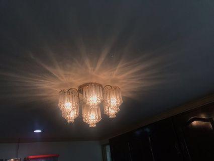 Crystal Chandelier Lamp Lampu gantung hias kristal