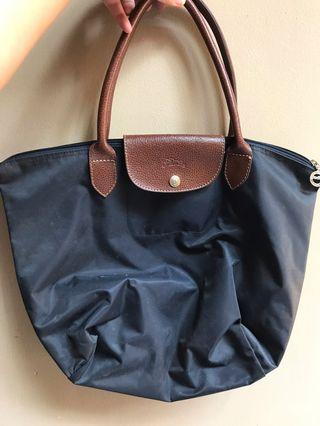 Sale Tas Longchamp Medium Biru