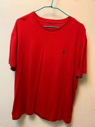 二手 Polo Ralph Lauren 素T 短袖T 小馬 紅色 SIZE:L