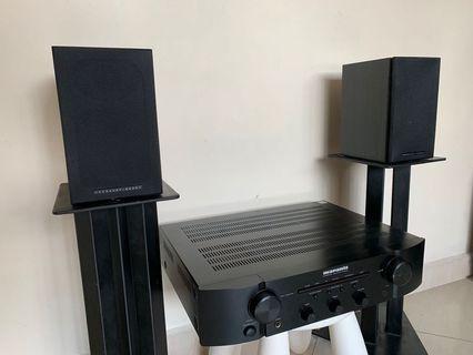 MARANTZ Integrated Amp + Mordaunt Short UK Bookshelf Hi-Fi System