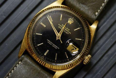 早期 Rolex 6605 DATEJUST  18k gilt dial