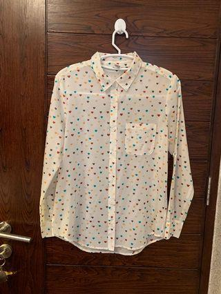Forever 21 hearts top