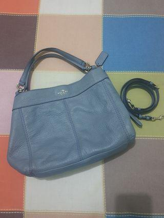 Preloved Coach Lexy Blue Very Good Condition with card dusbag pengganti