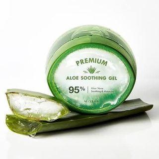 Missha aloe shoothing gel 95% from jeju 300ml original korea
