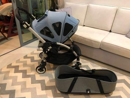 Bugaboo bee 3 with bassinet and breezy canopy