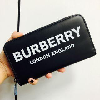 🚚 全新品 BURBERRY 新款字母款 拉鍊長夾