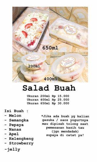 Jual salad buah. Langsung kepoin aja ug@sunnykitchen
