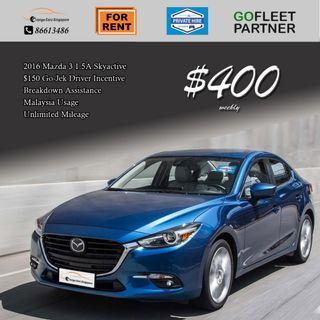 $150 GoFleet Incentive - Mazda 3 SkyActive