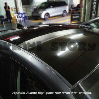 Avante hi-gloss roof wrap with antenna