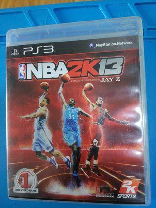 正版Ps3 games nba13。 買多可平d