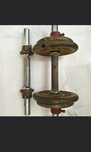 Original WEIDER USA Weight Barbell Set