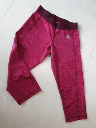 Adidas maroon cropped bottoms