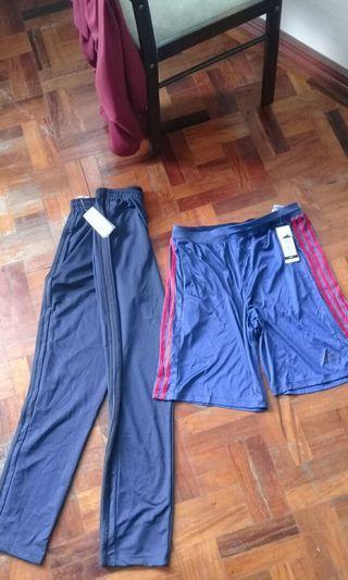 adidas jogger pants and shorts
