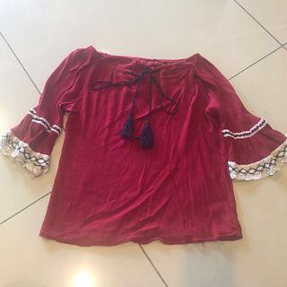 Female Red Top (super big sale)