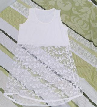 Dress white transp