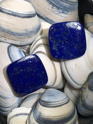 Father's Day Special - Natural Lapis Lazuli Gemstone (Square Cut - 8.04ct)