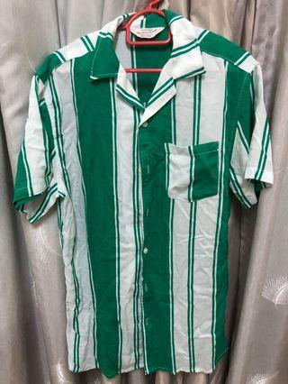 Cotton On green stripe shirt