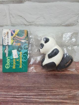 [全新]7.5公分高 Panda熊貓LED前燈車鈴