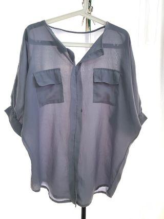 Grey Long Blouse