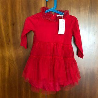 🚚 Red tutu dress