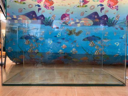 177升玻璃魚缸 90x45x46
