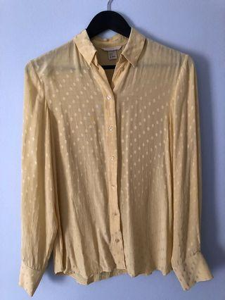 Lemon spotted blouse