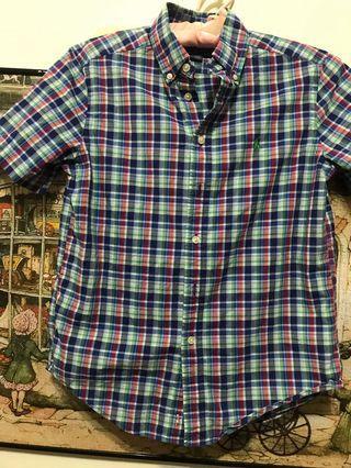 🚚 Polo Ralph Lauren格棉襯衫,肩38、長60(女M)
