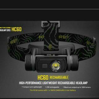 (1,000 Lumens) Nitecore HC60 USB Rechargeable LED Headlamp_Battery & Charger Included
